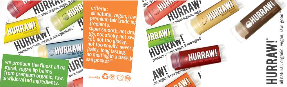 Hurraw natuurlijke en veganistische lipbalm